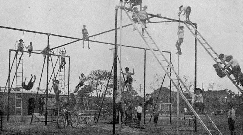 Lekplats tidigt 1900-tal